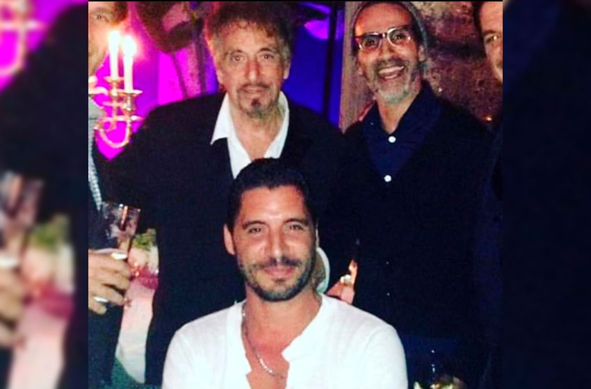 Desiderio festejo su cumpleaños junto al actor, guionista y director estadounidense Al Pacino.